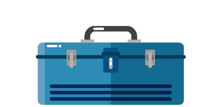 Illustration of tool box