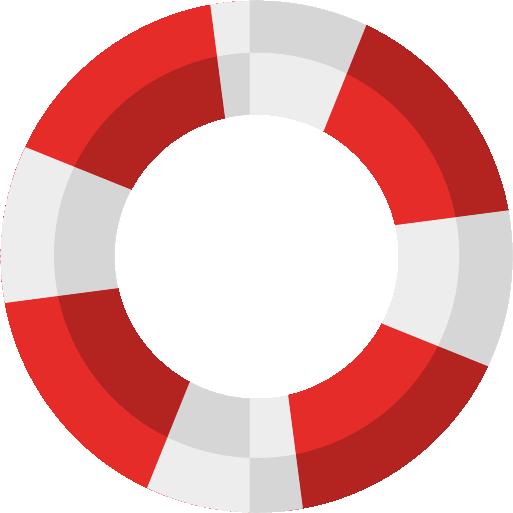Illustration of life guard ring