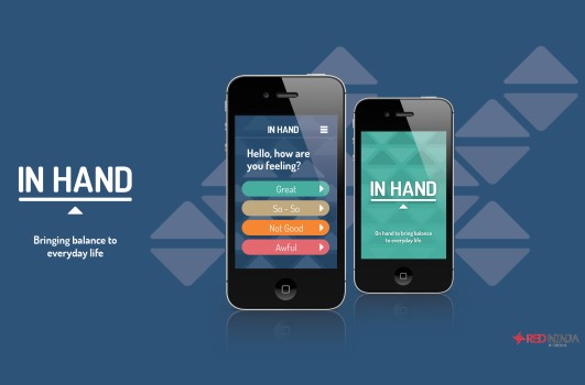 In Hand logo on phone screen