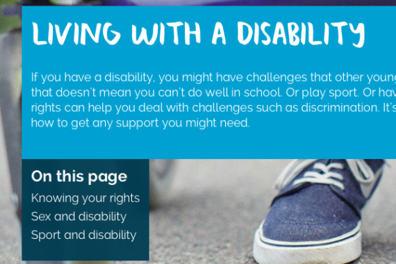 Living with a Disability home page info