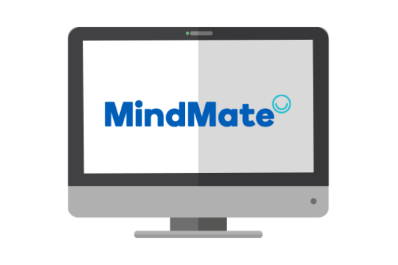 Illustration of MindMate logo on screen