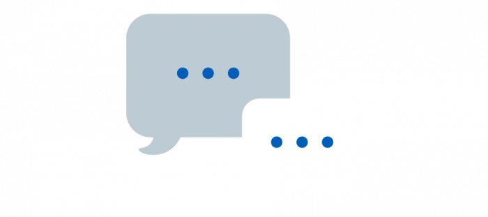 Illustration of text bubbles