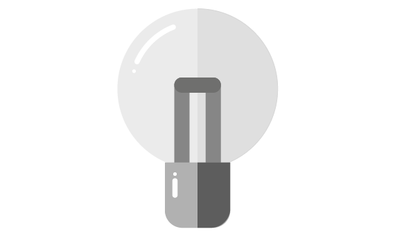 Illustration of lightbulb not lit