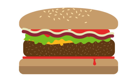 Illustration of cheeseburger