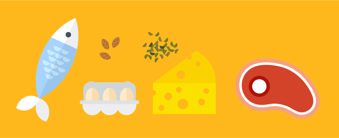 Illustration of different foods