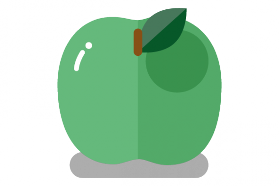 Illustration of green apple