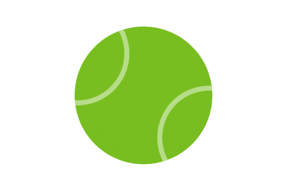Illustration of tennis ball