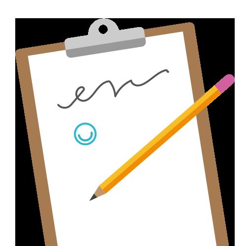 Illustration of signature with MindMate logo