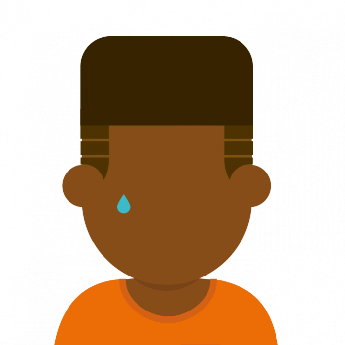 Illustration of young person crying