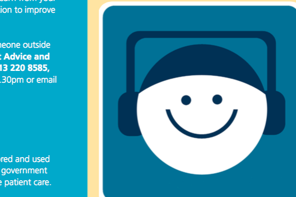 Illustration of smiley face with headphones on