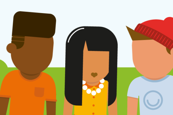Illustration of young people