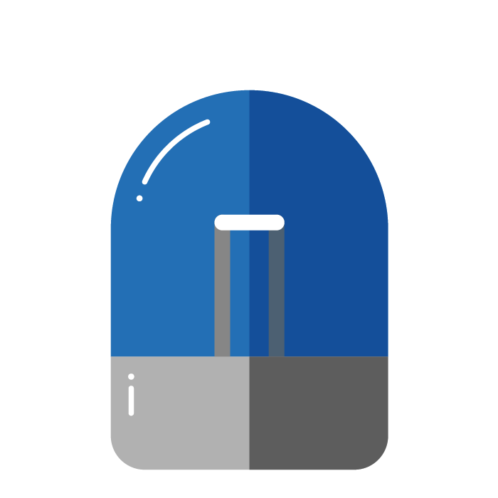 Illustration of blue light beacon