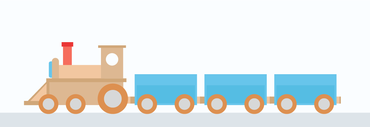 Illustration of a baby toy train