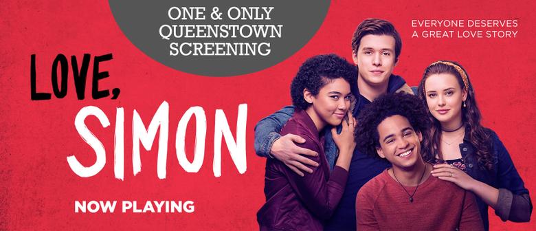 Movie poster reading 'love simon'