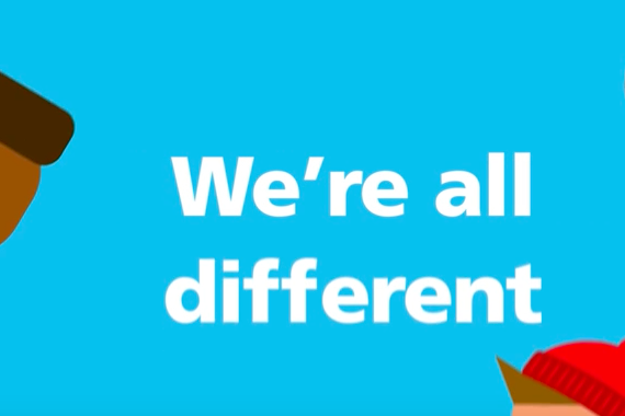 text that says We're all different