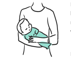 Illustration of someone holding a baby