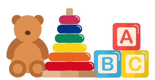 Illustrations of children's toys