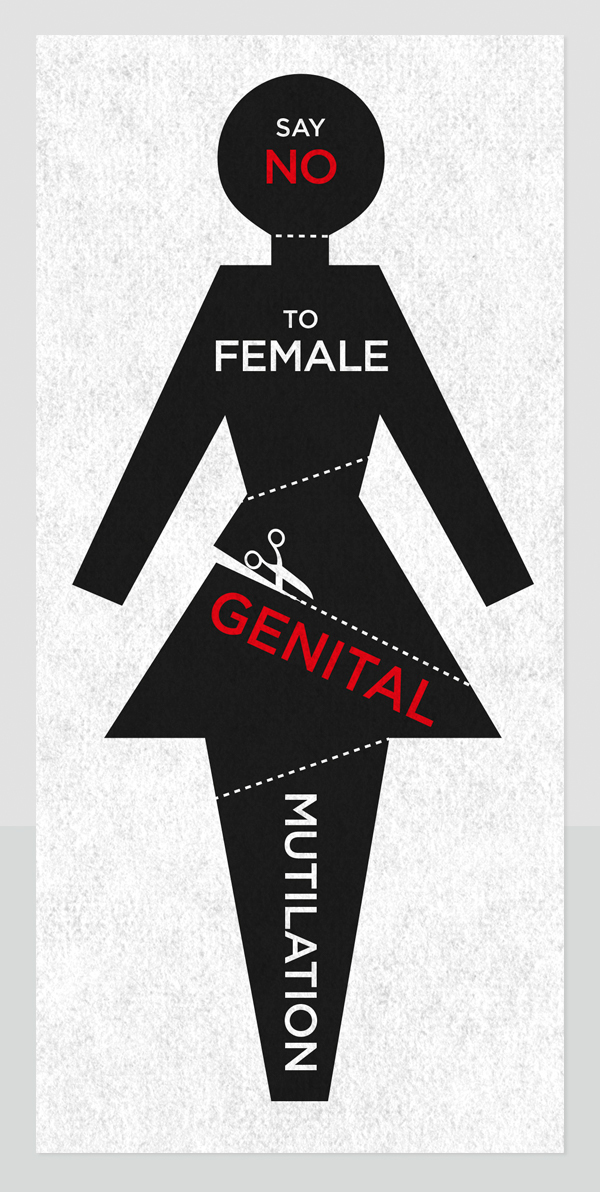 graphic saying 'say no to female genital mutilation'