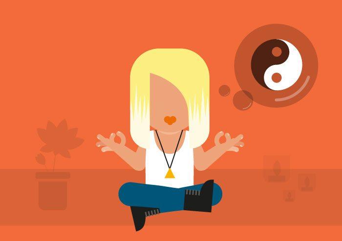 Illustration of person mediating