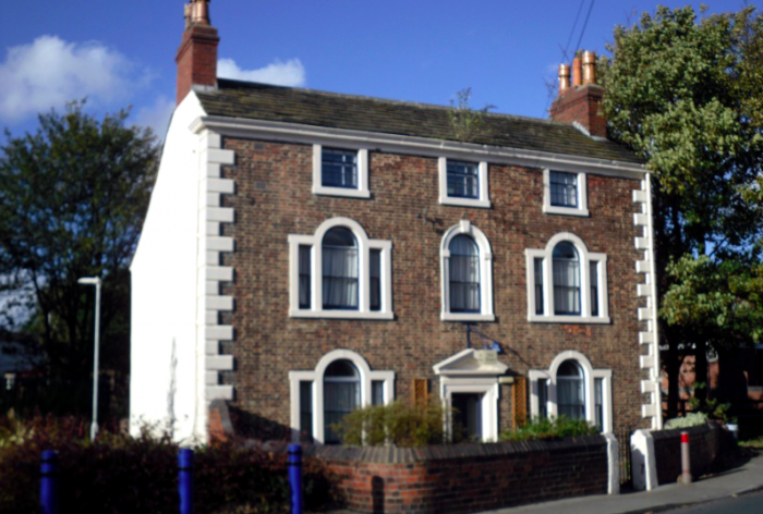 Large house with many windows
