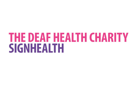 Deaf health charity logo