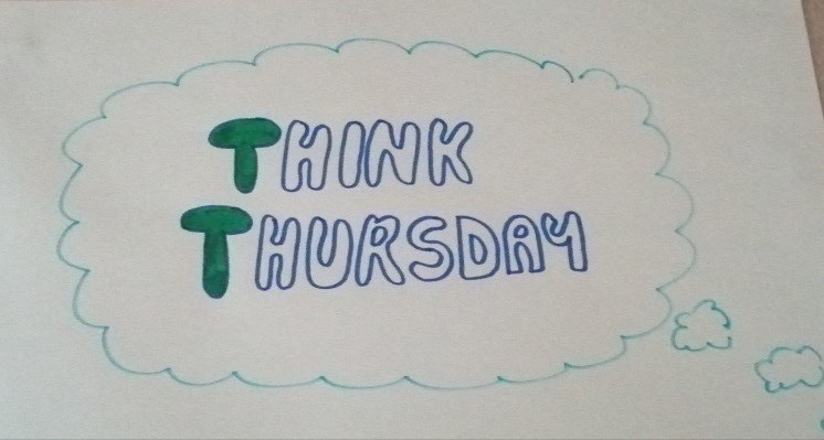 Hand drawn note saying Think Thursday